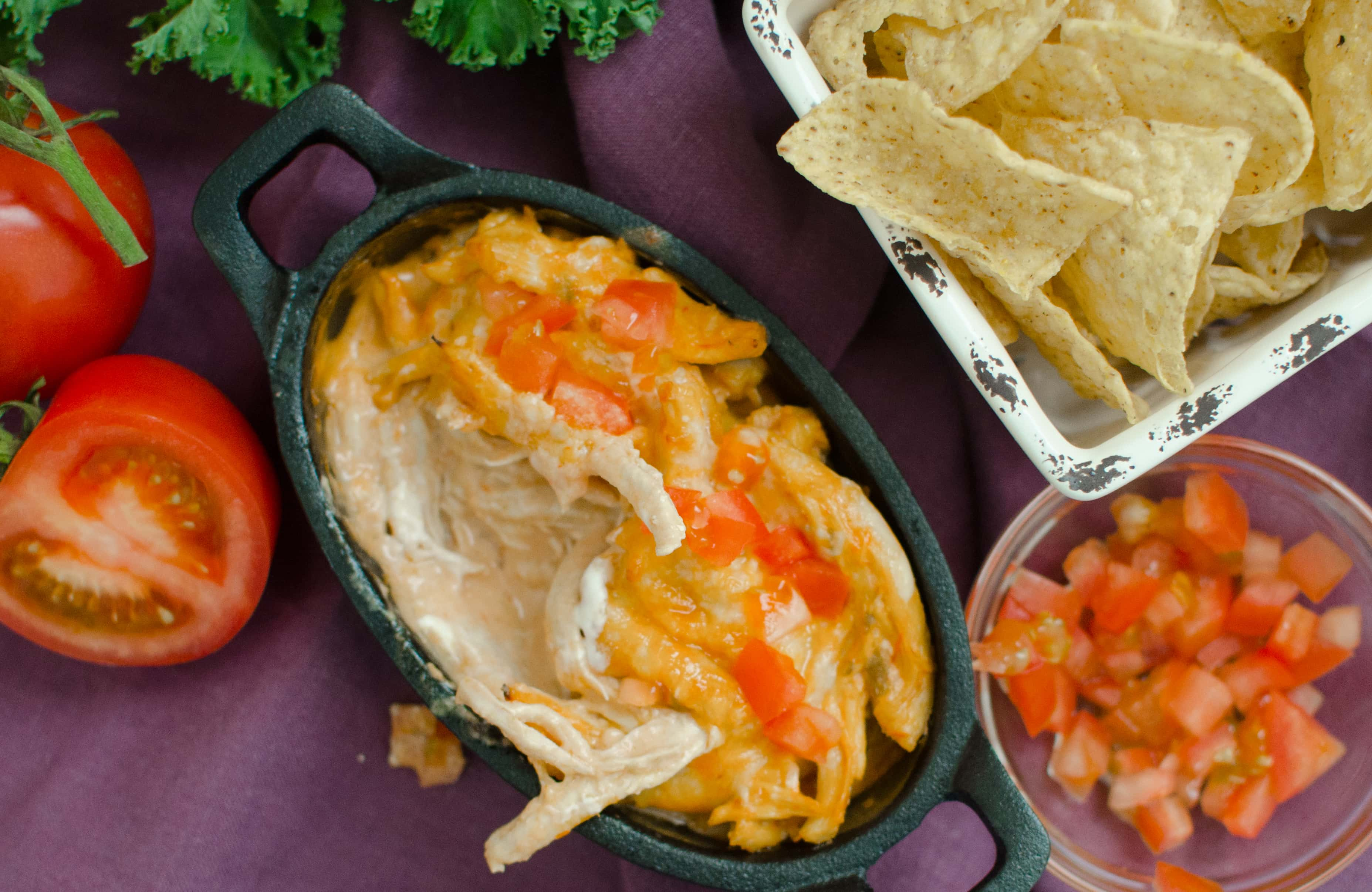 Creamy Salsa Chicken Dip is a perfect addition to any party or serve over rice for a delicious, quick weeknight dinner.