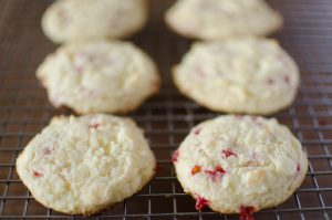 Raspberry Cheesecake Cookies are full of raspberry flavor and super soft. Made using a muffin mix, these couldn't come together any easer!