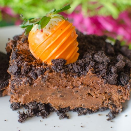 Chocolate Mousse Pie, rich with flavor, creamy as can be. This is a chocolate-lover's dream.