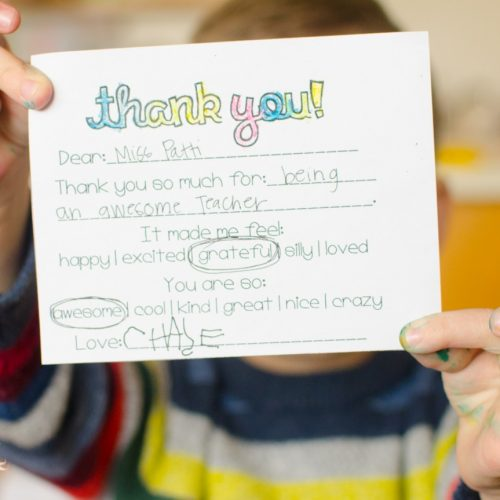 Kid's Thank You Note