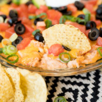 creamy salsa and chicken chip dip