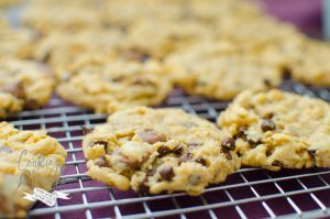 The Everything Cookie is a mix of everyone's three favorite cookies- peanut butter, chocolate chip and oatmeal! This is sure to please everyone!