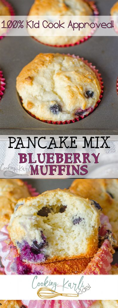Pancake mix blueberry muffins cooking with karli save ccuart Image collections