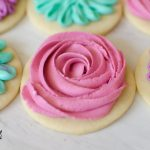 Sugar Cookie Frosting is a crusting vanilla buttercream that pipes and holds shape but tastes amazing at the same time!