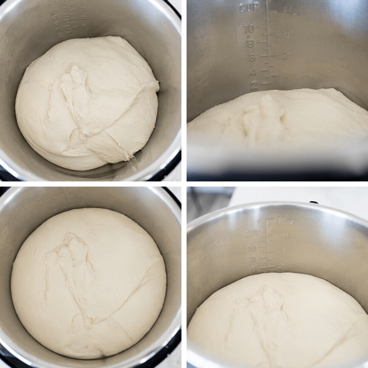 ciabatta dough rising in the Instant Pot