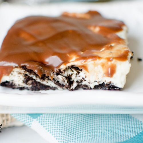 No Bake Oreo Cheesecake Slab