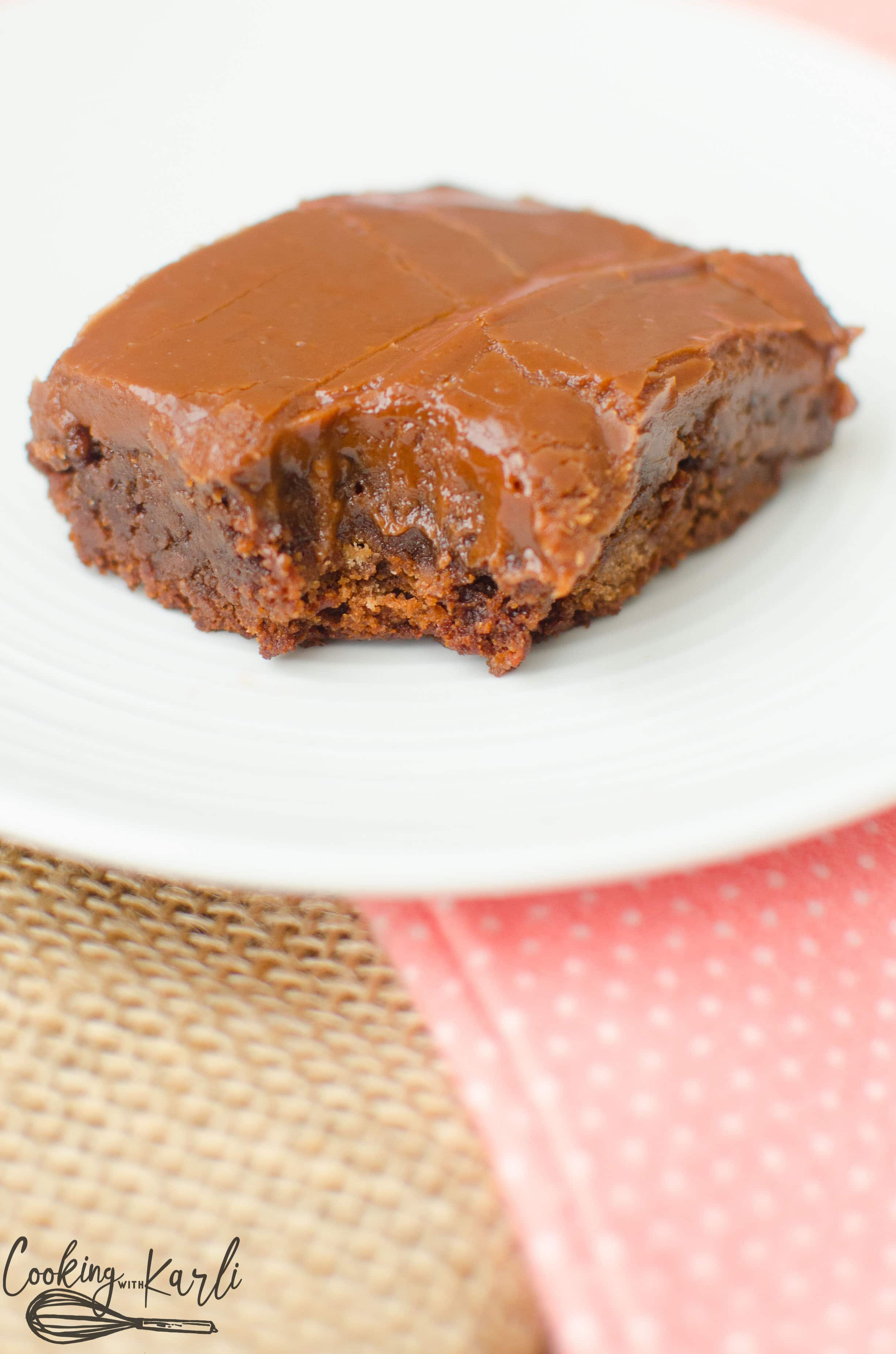 Rich fudge chocolate brownie, no stand mixer or beaters required!
