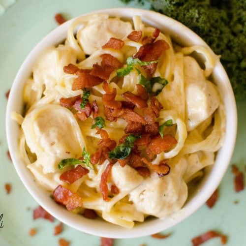 Chicken Bacon Ranch Pasta is make in the Instant Pot.