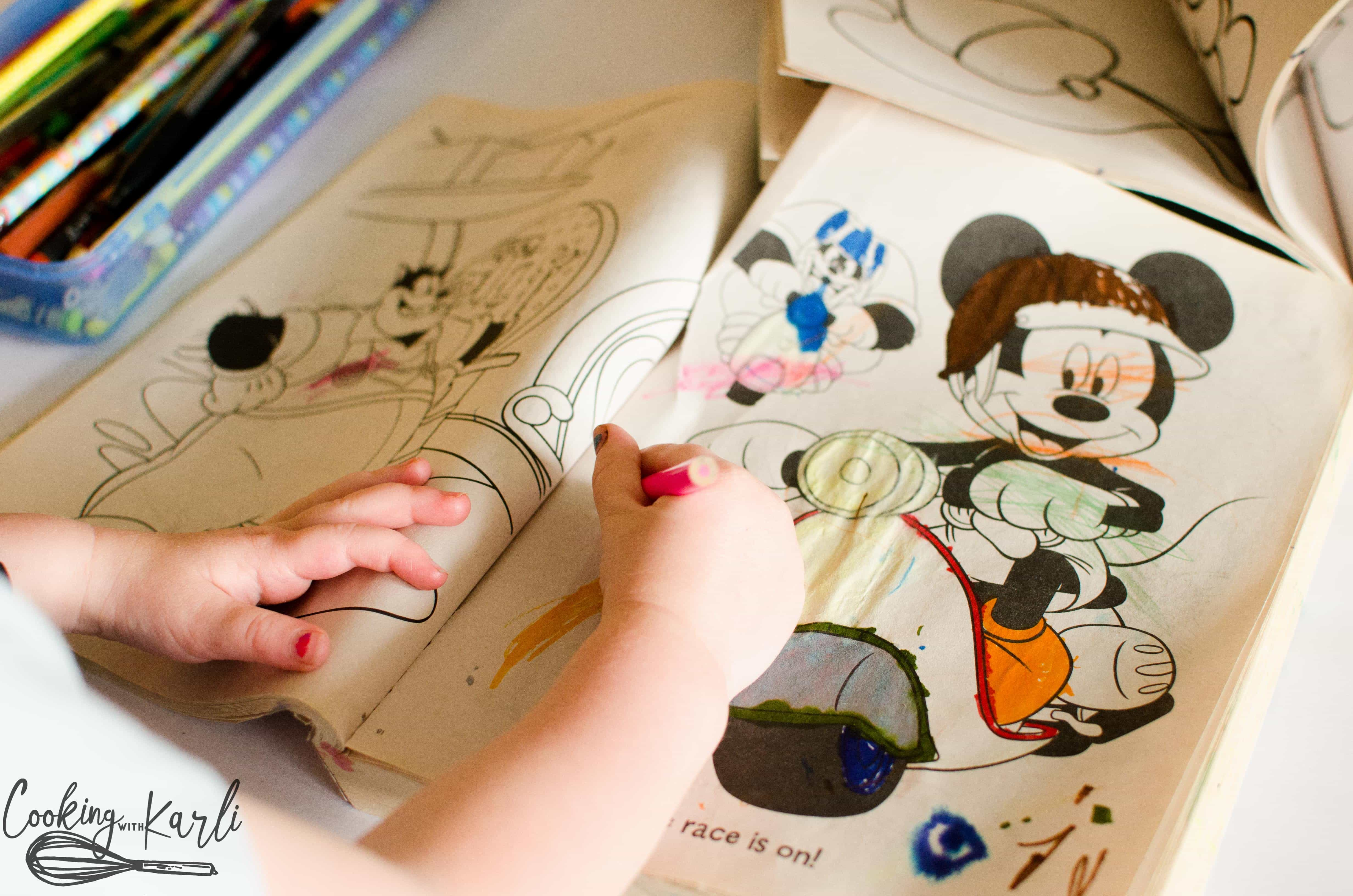 Coloring is great practice for developing children's fine motor skills.