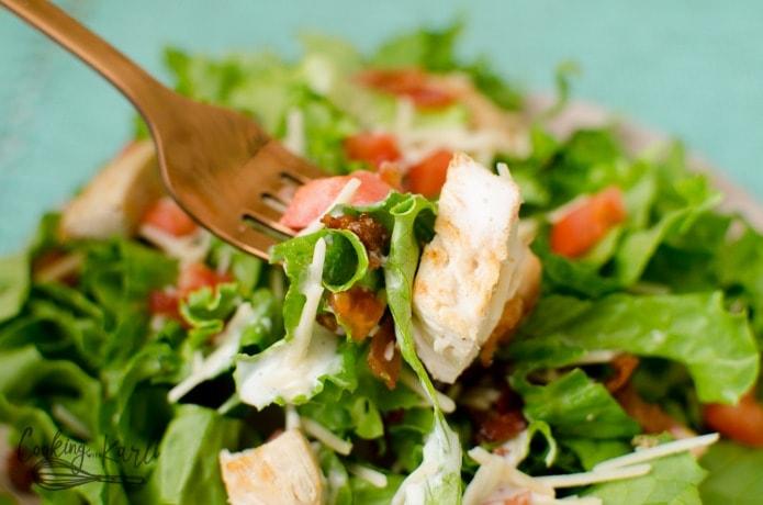 BLT Chicken Garden Salad - Cooking With Karli