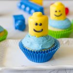 Lego Cupcakes are an easy and cute addition to any lego themed birthday party.