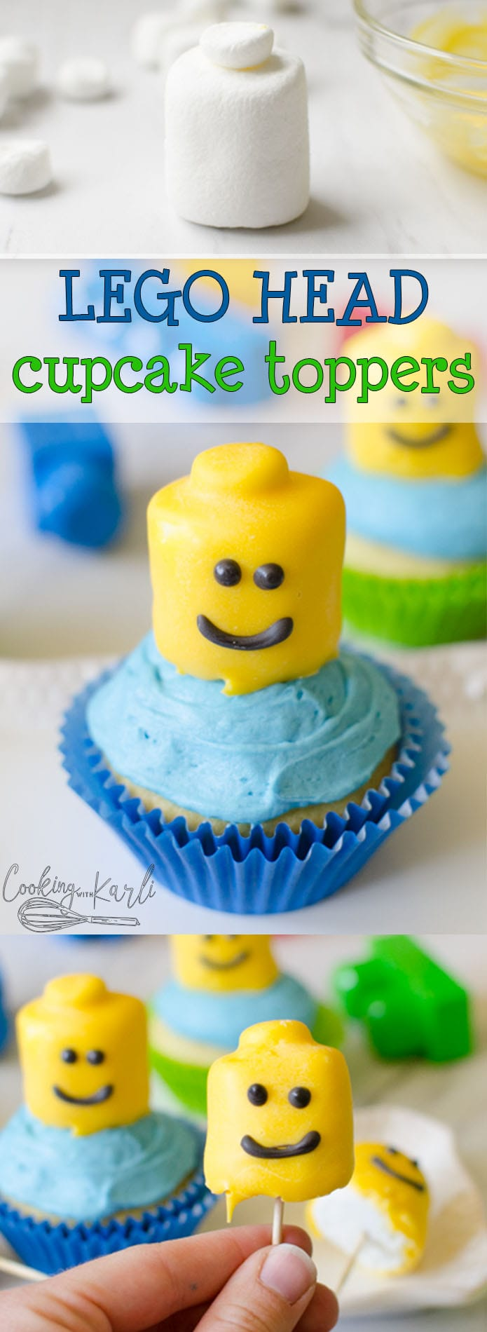 Lego Themed Birthday Cupcakes - Cooking With Karli