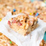 No bake cookie bars are perfect for picnics, potlucks or holiday parties.