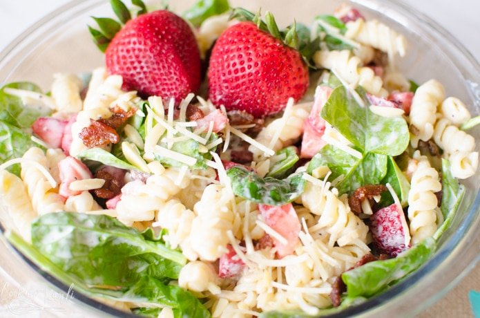 Strawberry Spinach Salad is a refreshing summer salad.