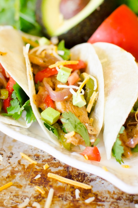 Chicken fajitas made in the instant pot are the best week night meal.