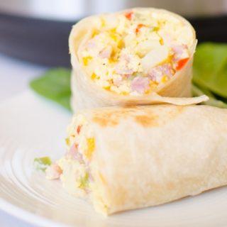 Instant Pot Breakfast Burritos