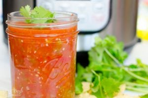 Fresh salsa made with ingredients from the garden makes this recipe easy and fast.
