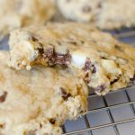Soft batch chocolate chip cookies are soft and chewy