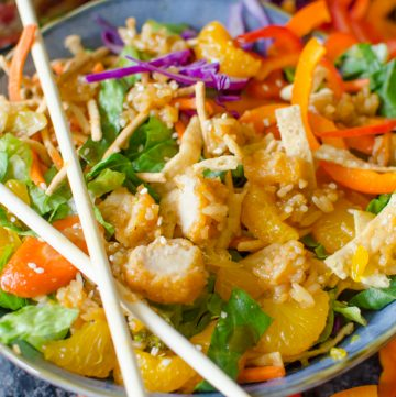 Chinese Chicken salad with homemade dressing.