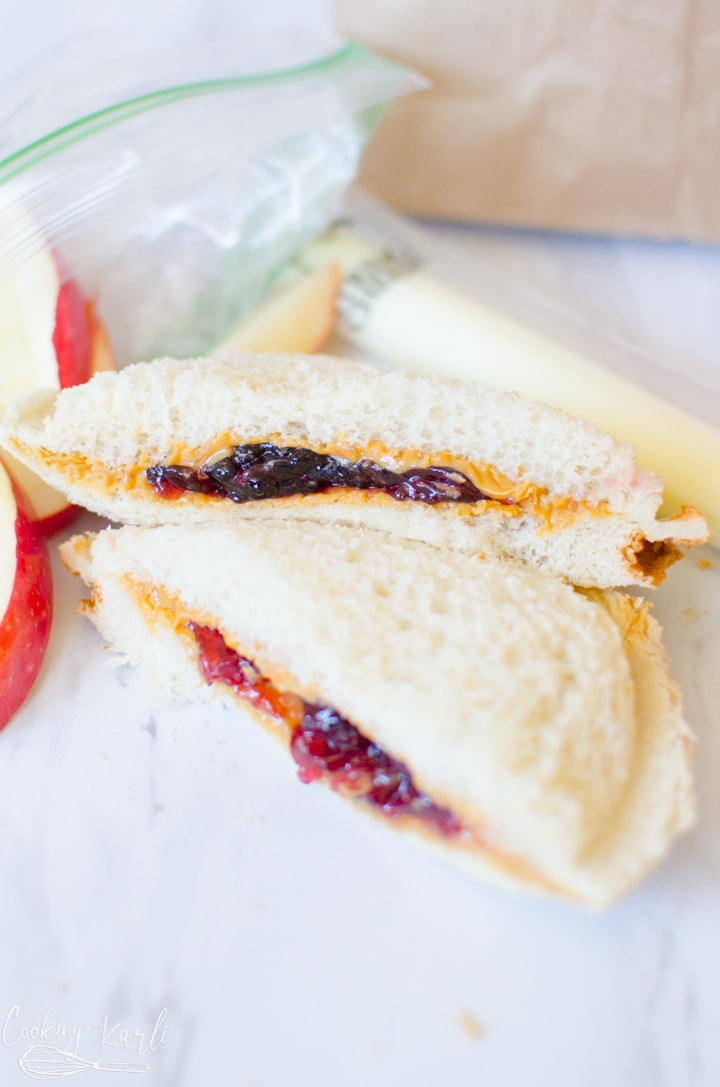 Peanut Butter and Jelly Uncrustable.