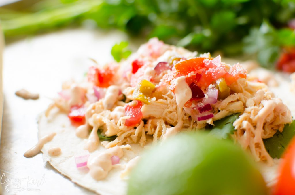 salsa chicken in the crockpot or Instant Pot