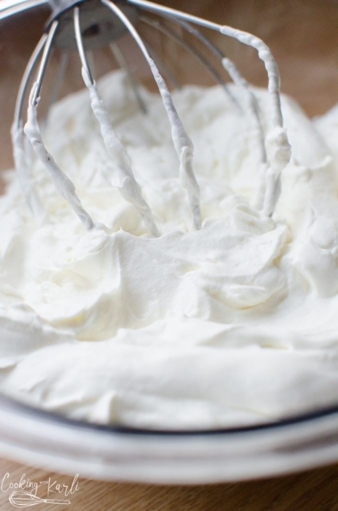 whipped cream with sugar