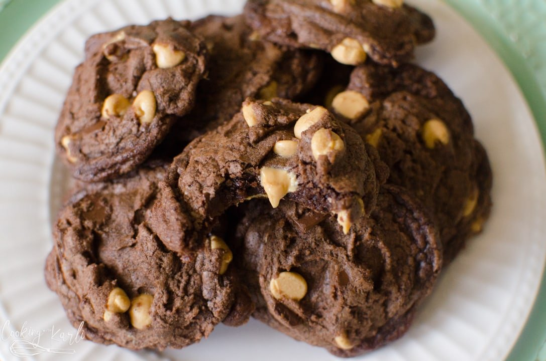 brownie mix cookies with peanut butter chips