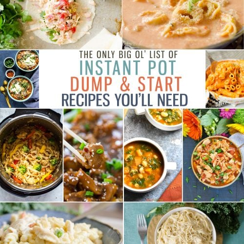 Instant Pot Dump and Start Dump and Start Recipes is a big long list of the best Dump and Start Instant Pot Recipes around! This round-up makes meal planning easy and painless!