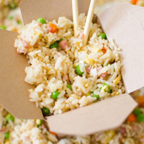 {Quick & Easy} Ham Fried Rice