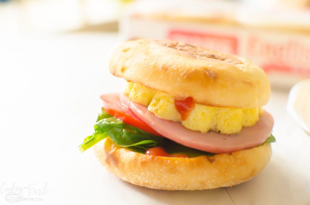 breakfast sandwich made in the Instant Pot