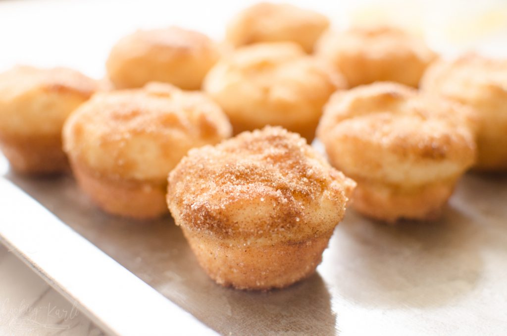 Snickerdoodle muffin or cinnamon muffin finished and plated