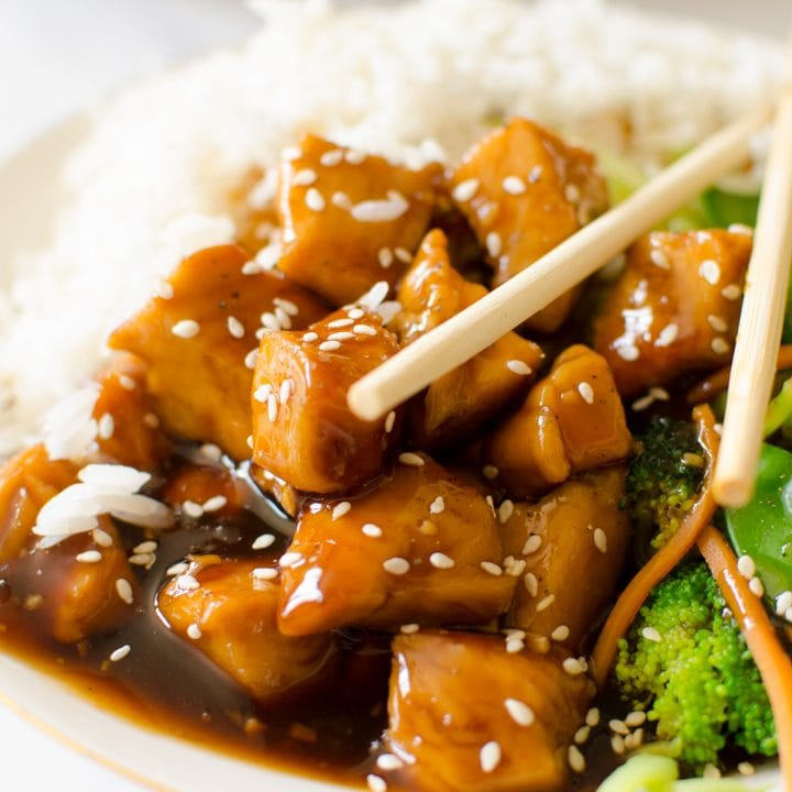 Teriyaki Chicken Bowl {Quick & Easy!}