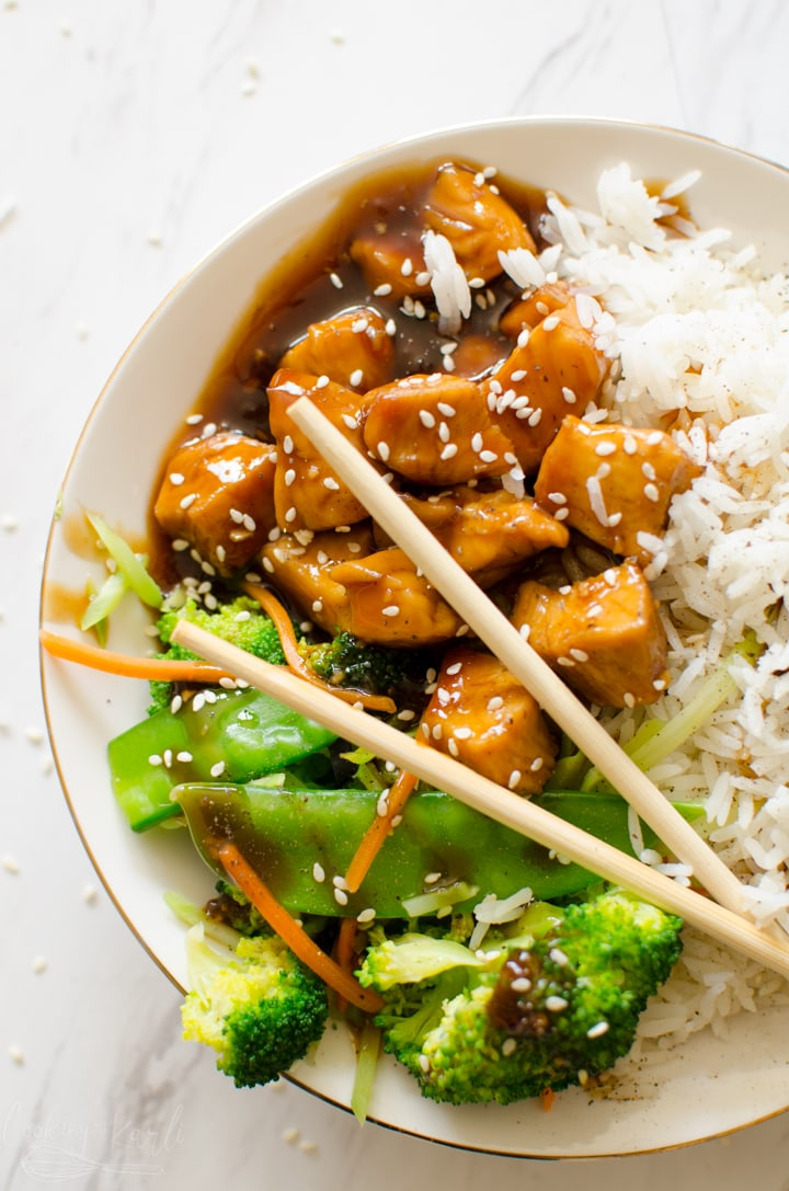 Instant Pot teriyaki chicken bowl