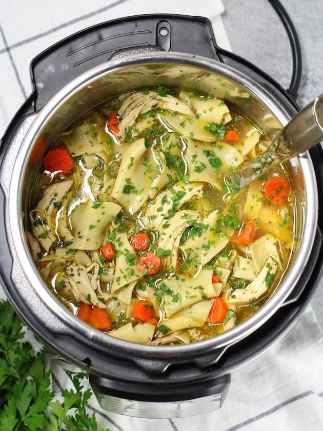 Instant Pot recipes- chicken noodle soup