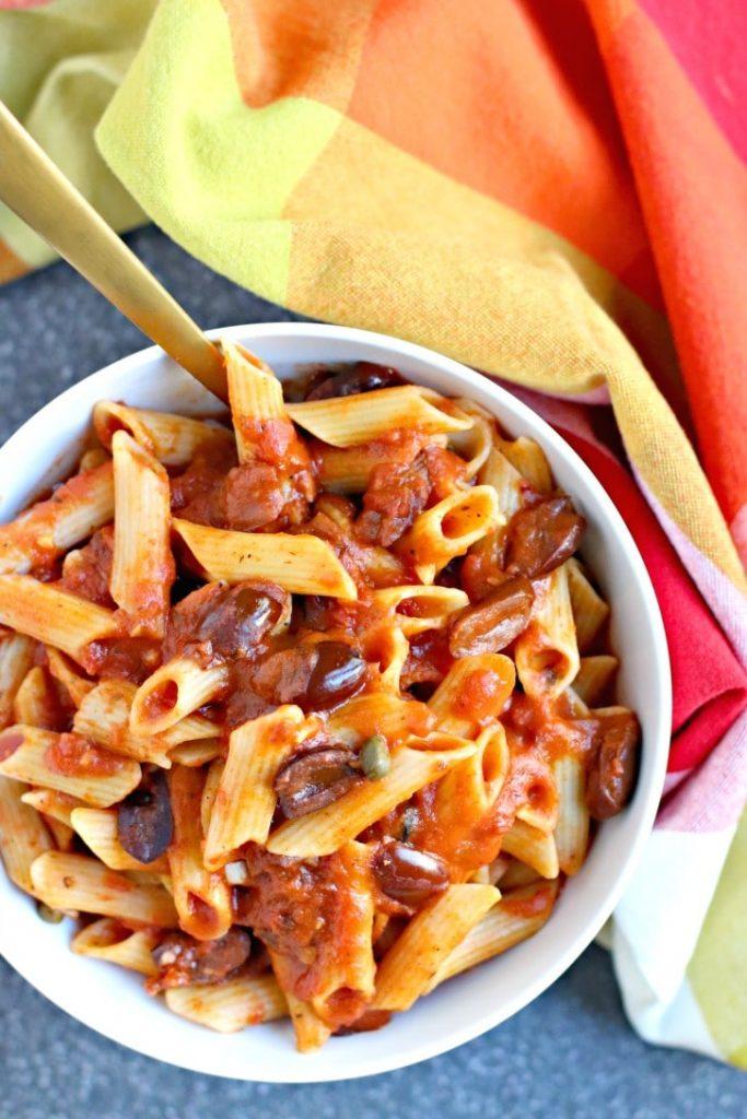 Instant Pot recipes- pasta puttanesca