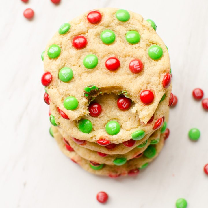 M&M Christmas Cookies