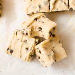 no bake cookie dough fudge