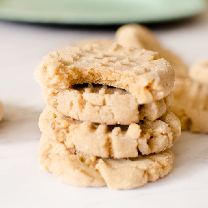 Peanut Butter Cookies {Soft & Chewy!}