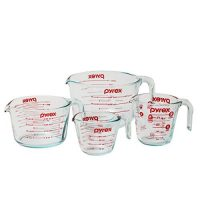 Pyrex Measuring Cup 4-piece Set, Clear, 15 x 12 x 5.375