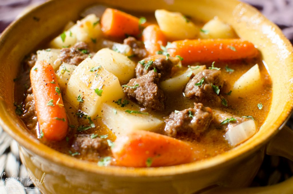 beef stew made in the Instant Pot