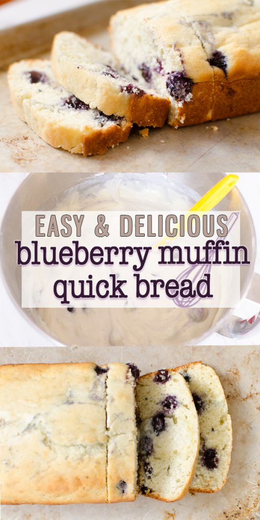 Homemade Blueberry Muffin and Quick Bread Recipe is a simple blueberry muffin batter that makes perfect muffins or an easy quick bread! They are moist, dense and absolutely scrumptious! The vanilla batter filled with blueberries combine to give you the classic blueberry muffin taste! |Cooking with Karli| #homemade #blueberry #blueberrymuffin #quickbread #healthy #fromscratch #bakery #recipe