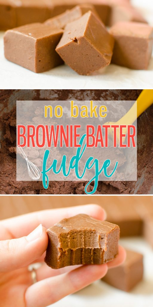 Brownie Batter Fudge is a chocolate fudge made from egg free brownie cookie dough, sweetened condensed milk and white chocolate chips. This fun flavored fudge is pushing the boundaries in all the right ways! |Cooking with Karli| #fudge #christmas #nobake #dessert #browniebatter #brownie #easy #recipe