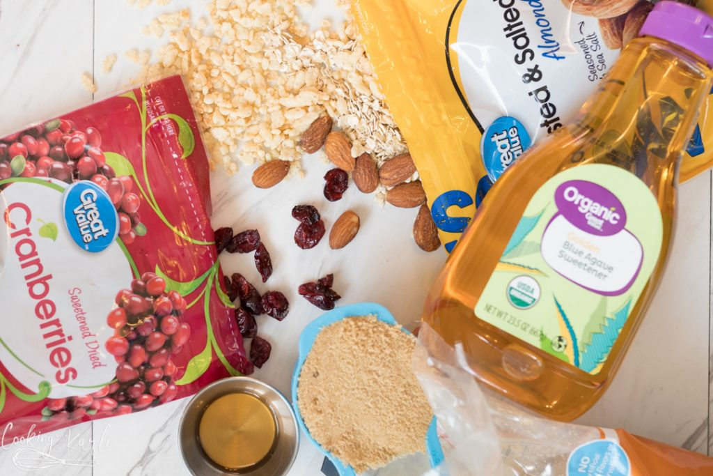 cranberry almond granola bar ingredients