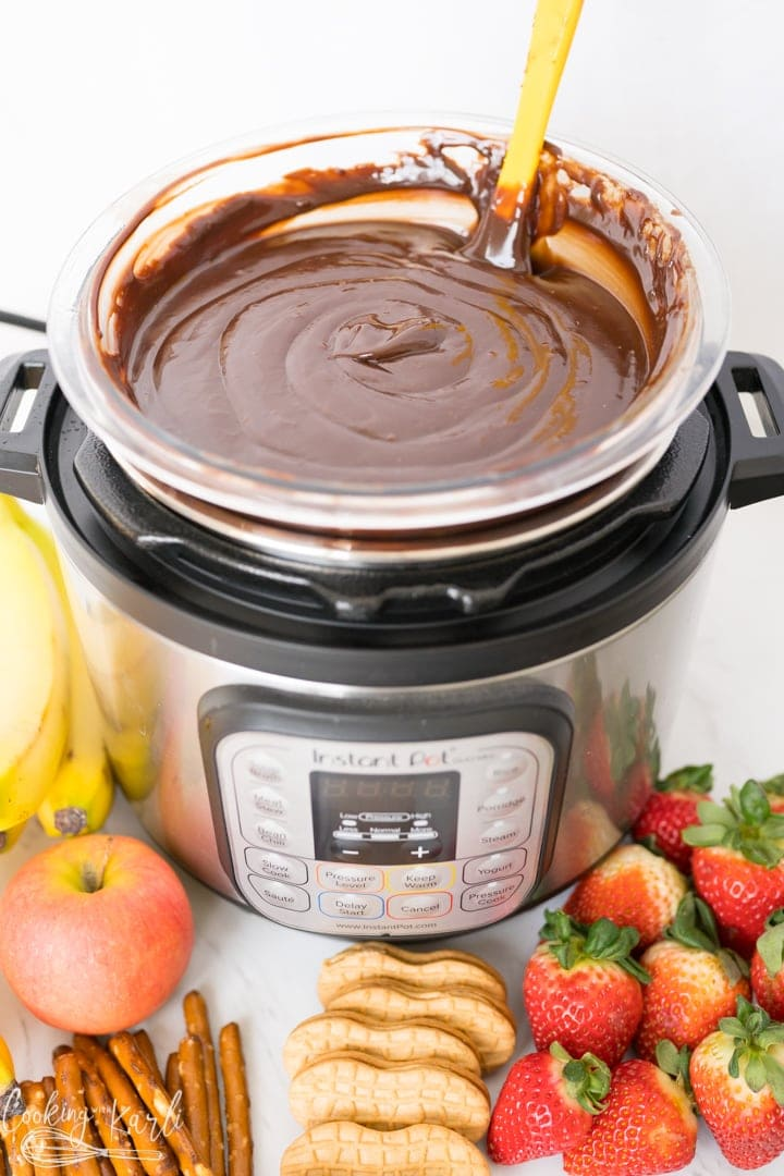 Chocolate Fondue Instant Pot And Stovetop Directions Cooking With Karli