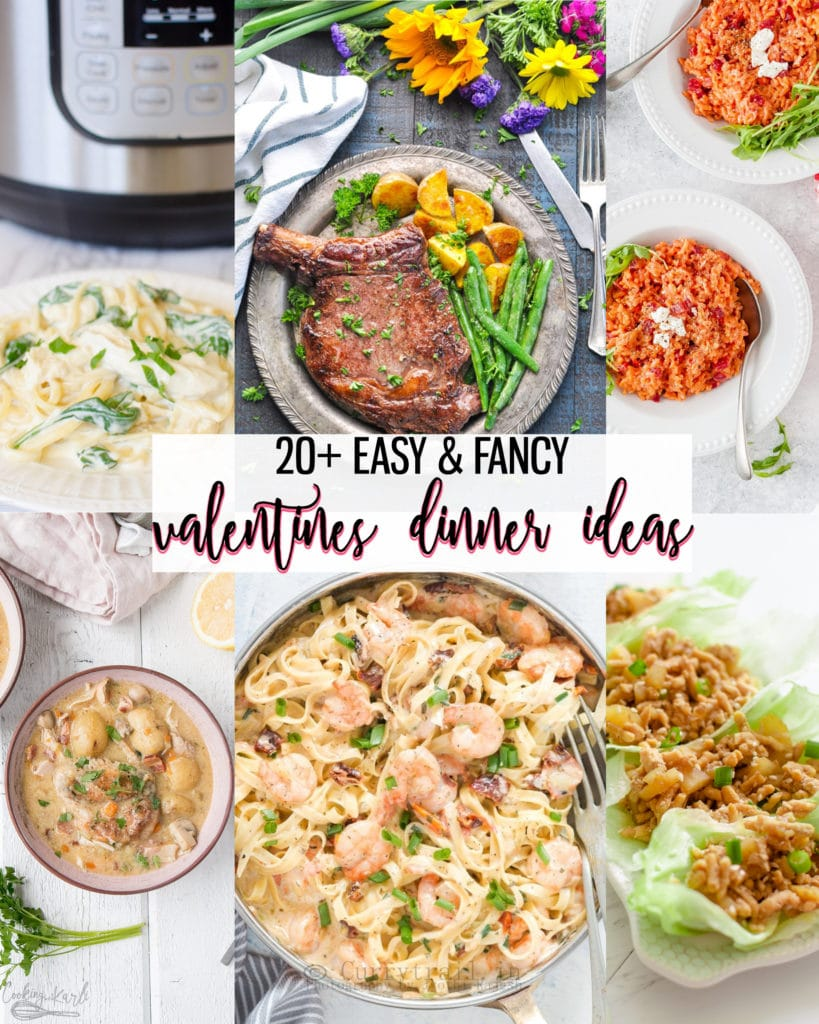 20+ easy dinner ideas perfect for Valentine's Day! These main dishes are easy yet fancy! Celebrate Valentine's Day in this year with one of these recipes! |Cooking with Karli| #valentinesday #dinner #dinneridea #fancy #easy