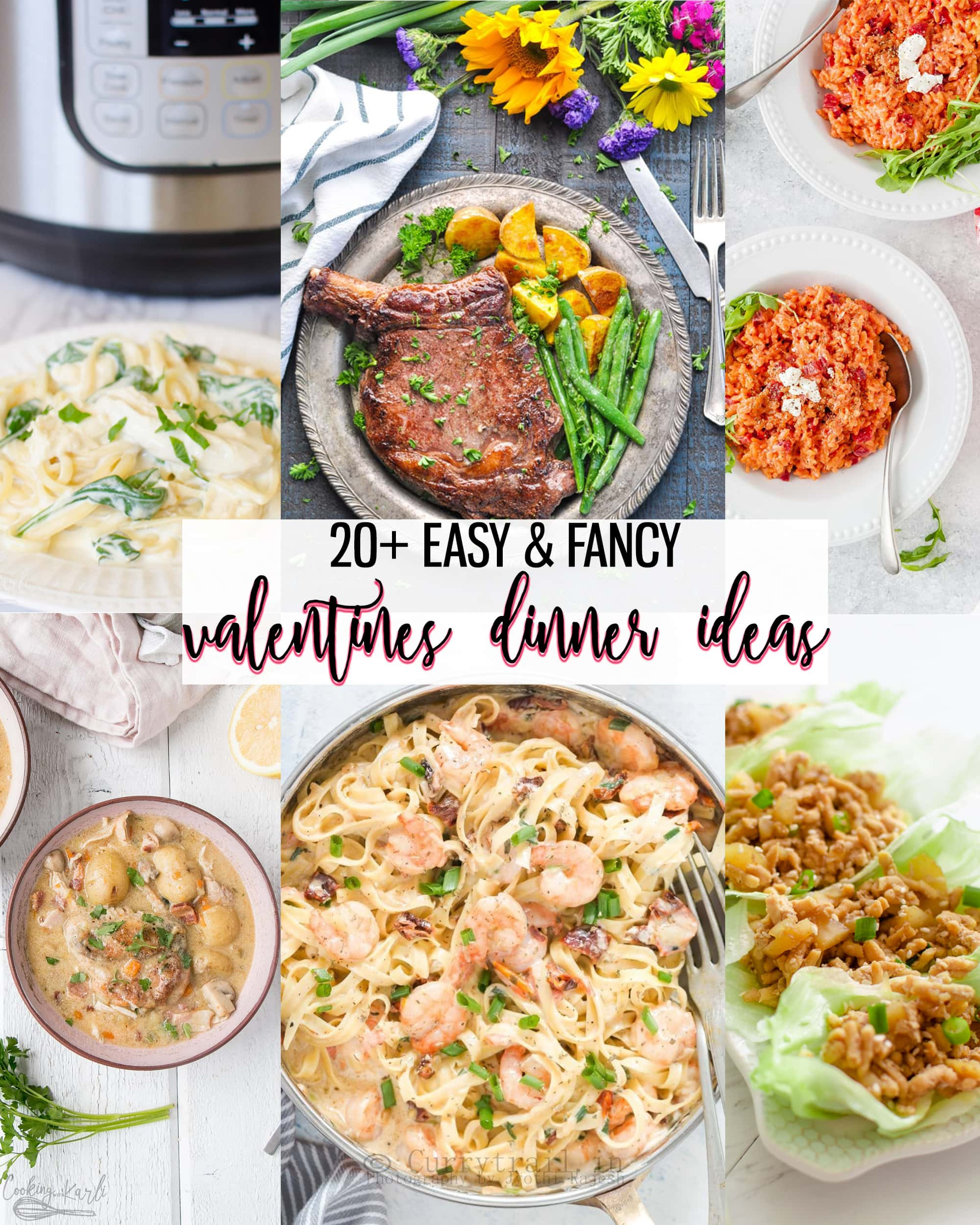 20+ Easy & Fancy Valentines Dinner Ideas