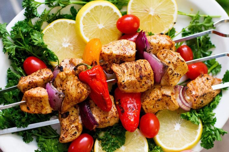 Mediterranean Chicken Shish Kabob Recipe • Unicorns in the Kitchen