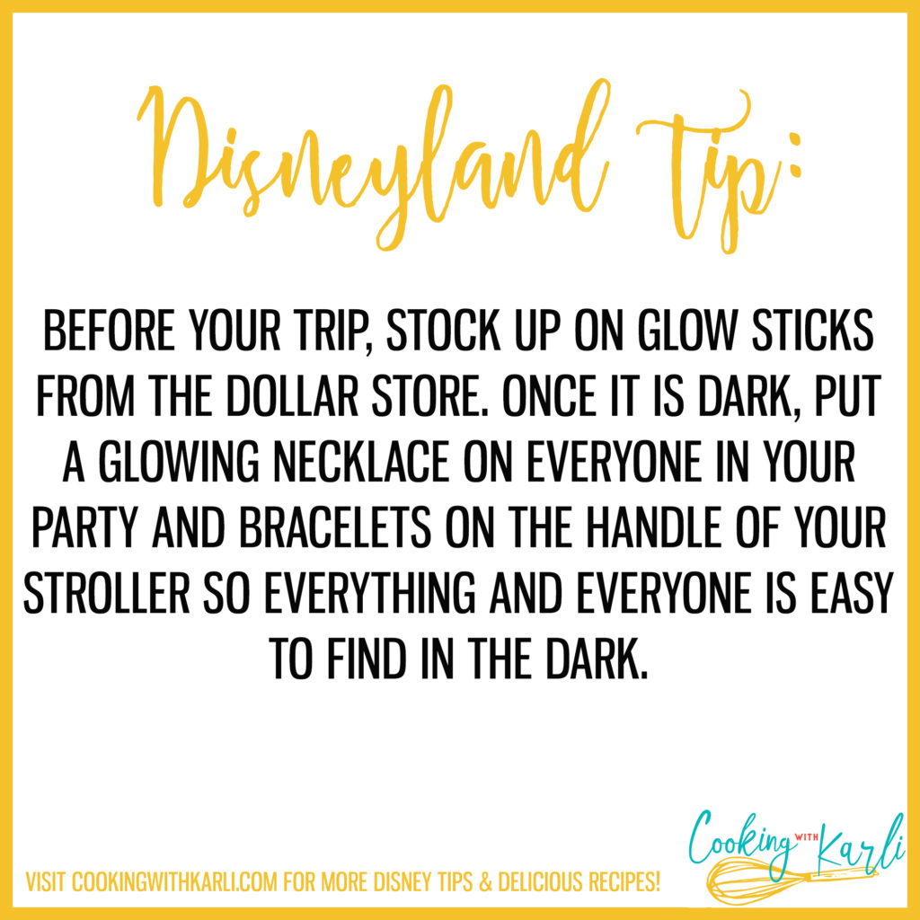 Disneyland tip about glowsticks