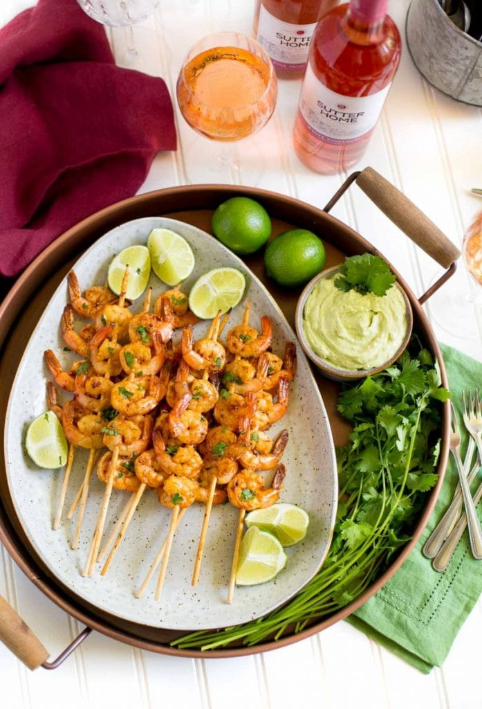 Spicy Grilled Lime Shrimp