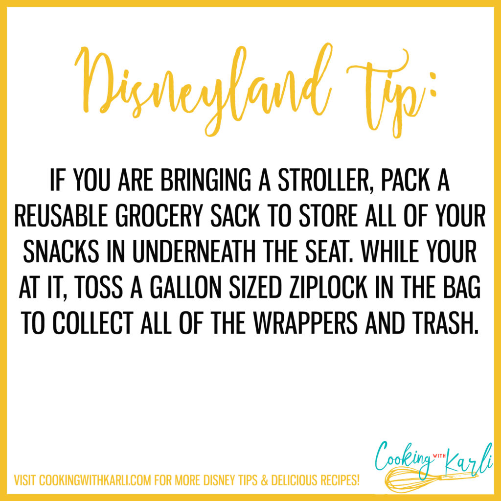 Disneyland tip about snacks